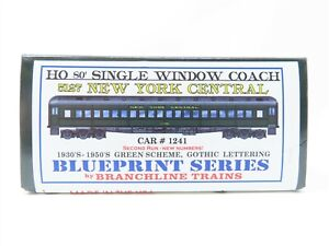 HO Branchline Blueprint Series 5127 NYC New York Central Coach Passenger #1241