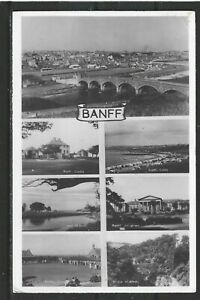 Postcard : Banff, Multi-views of Town and District, a real photo