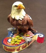"Jim Shore Heartwood Creek Mini Figurine - Patriotic Eagle - 4037682 - 3½"" - Ex"
