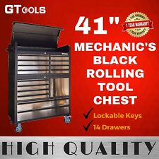 Rolling Mechanic Black Tinted Tool Chest Box Trolley for Workshop