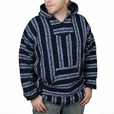 Baja Joe Hoodie Mexican Rug Pullover Surfer Jacket Size Small Blue New With Tags