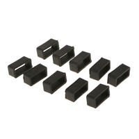 10x Silicone Watch Band Loops Replacement Keeper Holder Loop Black 18mm