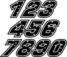 Casey Stoner RACE NUMBER black Decal size apr. 50MM HIGH( PRICE IS PER DIGIT!!!)
