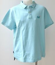 Superdry Mens Polo T Shirts - LIGHT BLUE - SIZES - XXL & 3XL- NEW
