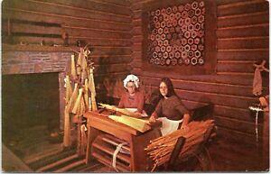 vtg postcard broom making fort boonesborough Richmond Kentucky unp