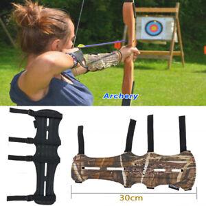 Arm Guard Archery Soft Leather 4 Straps Compound Recurve Bow Arm Protection Gear