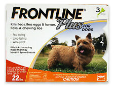 Frontline Plus for Dogs 0-22 lbs 6 Doses Genuine USA