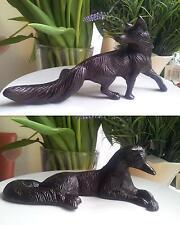 Hochwertige Fuchs Figur Guss Metall Braun Fox  Statue Dekoration Gußeisen Guss