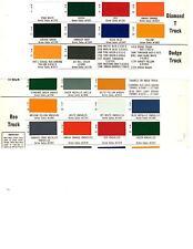 1962 DODGE TRUCKS 1962 REO TRUCKS 1962 DIAMOND T TRUCKS PAINT CHIPS 62AC18PC