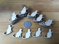 30x 35mm CAT SHAPES 3mm - PLY SHAPES CRAFT TAG blanks
