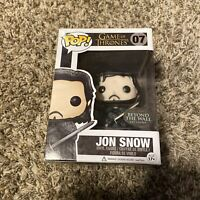 Funko Pop Game Of Thrones Jon Snow Beyond The Wall 07 Damaged Box READ
