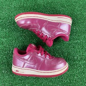 Nike Air Force 1 Toddlers Shoes Pink Leather - SZ 9C 314221 600 Sneakers Classic