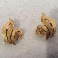Trifari earrings gold tone