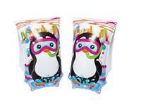 "Boys Penguin Armbands Swim Aid Inflatable Pool Beach Summer 12""x6"""