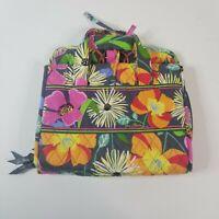 Vera Bradley Travel Hanging Bag Compartments Makeup Toiletries Floral