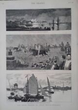Antique (Pre-1900) Etching Topographical Art Prints