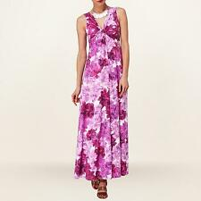 Phase Eight Pink Floral Tea Rose Jersey Summer Day Maxi Dress Size 10 Holidays