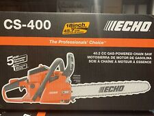 Echo CS-400 18 Inch Gas Chainsaw - New - Free Shipping In US
