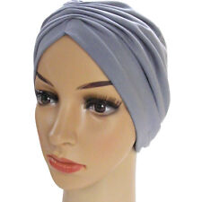PURE COTTON JERSEY TURBAN RUCHED BEANIE HEADWEAR FOR CHEMO HAIR LOSS. f