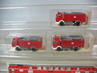 H225-0,5# 3x WIKING Mercedes Feuerwehr FLT 24/50, 20 621, NEUW+OVP