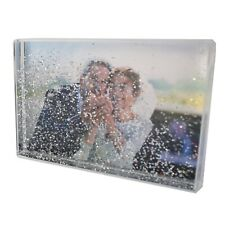 "Adventa Personalised Snow Blox Instant Shaker 4""x6"" Photo Frame"