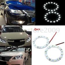 2x 60mm White 15 LED SMD Car Halo Ring Angel Eyes DRL HeadLight Bulb Lamp DC 12V