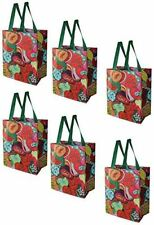 Earthwise Reusable Grocery Bags Laminated Fruit Collage Print Heavy Duty (6PC)
