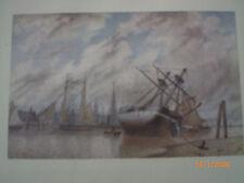 Hamburg - historische Ansicht: Hafen beim Blockhaus Scherzer um 1860