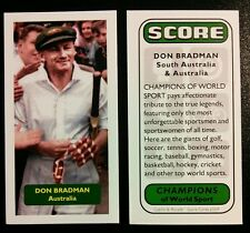 Cricket - AUSTRALIA - DON BRADMAN 2 - Score Champions of World Sport trade card