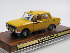 Moskwitsch 2140 gelb - TAXI Russia - USSR  - Umbaumodell Conversion - 1/43