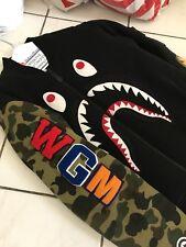 Bape Ma-1 Shark Bomber Jacket Green Camo Size LARGE WGM Japan A bathing ape RARE