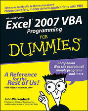 (Good)-Excel 2007 VBA Programming For Dummies (Paperback)-Walkenbach, John, Piet