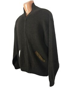 mens jumper Small merino wool Australian zip front collared Aklanda smart casual