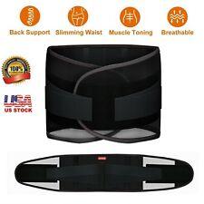 Adjustable Lumbar Support Lower Waist Back Belt Brace Pain Relief Breathable