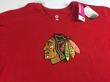 Chicago Blackhawks Shirt Womens 3X Plus NHL Hockey Cotton Ladies Red Chief Logo