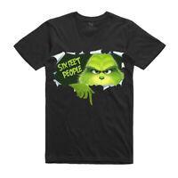 Christmas T-Shirt- Six Feet People T-Shirt - The Grinch T-Shirt - Black T-Shirt