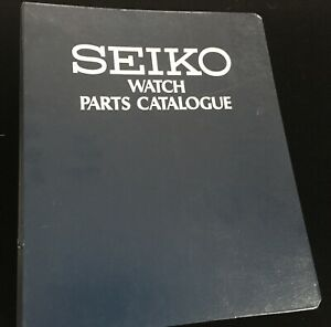 Watchmaker's Seiko Watch Parts Catalog thick binder to 6105 6139 others c. 1976