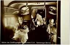 Cartolina Aviazione - Cabina Passeggeri Aereo Junkers G 31 Luft-Hansa - Non Viag
