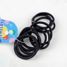 Best 50pcs Sports Elastic Rope Ring Hairband Women Hair Band Ponytail Holder DOS