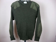 VTG OLIVE GREEN MILITARY COMMANDO JUMPER SWEATER Wool 100cm Small