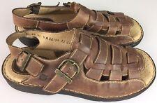 ea9466f1a051 Born Fisherman Leather Sandal Mens US 12 EUR 46 Shoe Woven Brown Open Toe
