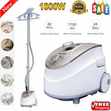 2-in-1 NEW Heavy Duty Stand Clothes Garment Fabric Steamer 11 Steam Levels 1800W
