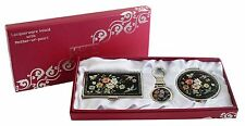 Business card holder ID case Makeup compact mirror keychain ring gift set #13
