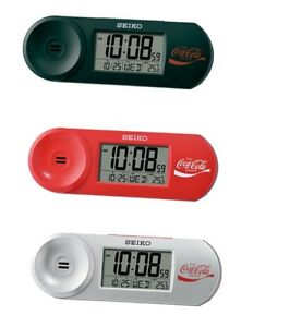 Seiko digital beep desk alarm Coca Cola snooze calendar temperature light QHL902