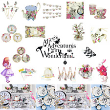 ALICE IN WONDERLAND PARTY WARE VINTAGE TEA PARTY MAD HATTER TEA PARTY