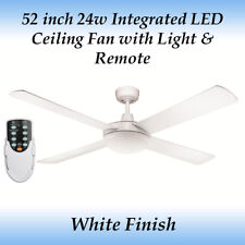 52 inch White LED Ceiling Fan - 24 Watt LED Cool White Light and Remote