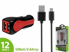2.4 Amp Dual USB Car Charger w/ Micro USB Cable for Motorola Droid Turbo 2