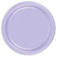 "24 Plates 6 7/8"" Paper Dessert Plates Wax Coated - Lavender"