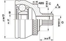 OPEN PARTS Juego de articulación árbol transmisión Lado rueda CVJ5261.10