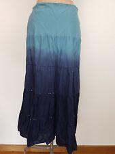 Liz Jordan Womens Skirt SZ S Maxi Modest Tiered T Dyed Beaded Elastic Waist Boho
